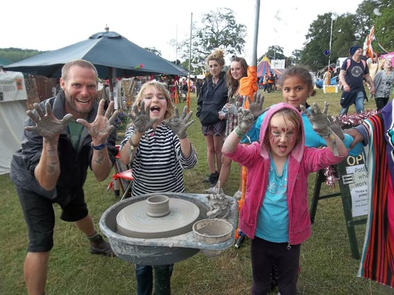 pottery workshops at the bigchill festival led by eastnor pottery & the flying potter