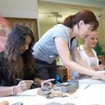 pottery workshops in the community led by jon the potter from eastnor pottery