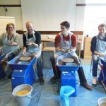 Pottery team building event at Farncombe estate facilitated by Eastnor Pottery & the Flying Potter