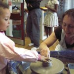 community arts workshop led by jon williams from eastnor pottery and the flying potter