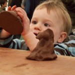 Pottery sessions for the under 5's at Eastnor Pottery, Herefordshire