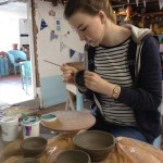 Evie Banks at Eastnor Pottery