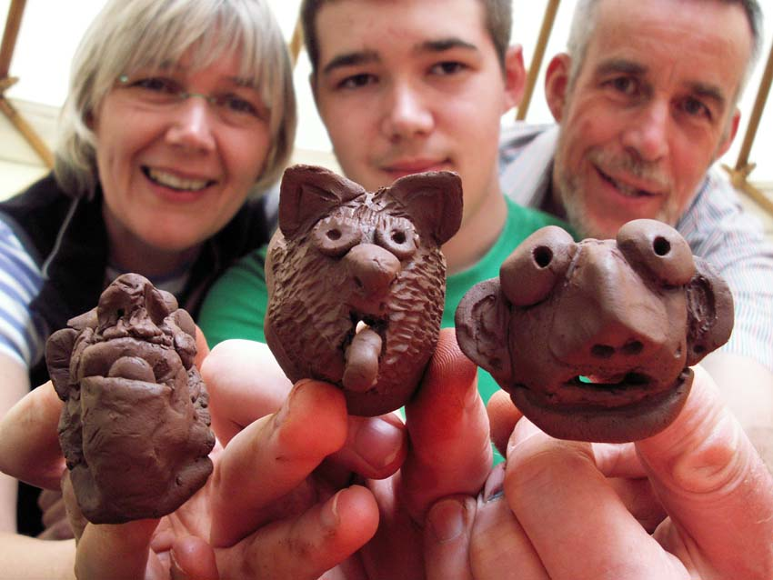 Pottery for large family groups and get togethers at Eastnor Pottery