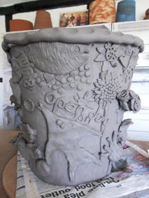 Collaborative Clay Coilpot,   Eastnor Pottery