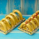 Toast Rack with Bee decorations made by Eastnor Pottery Co-Owner Sarah Monk Williams