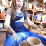 Potter's wheel birthday party at Eastnor pottery West Midlands