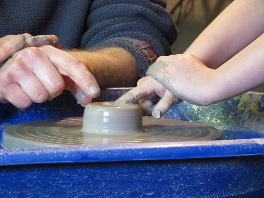 Pottery wheel lessons for kids in the school holidays