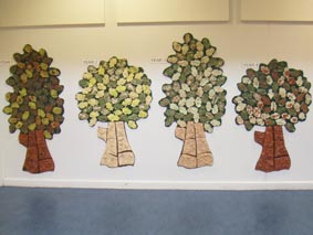 Marlbrook Primary School Trees, Eastnor Pottery, Herefordshire