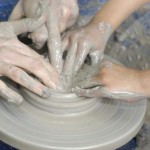 clay residency at beaufort special school led by artist jon williams