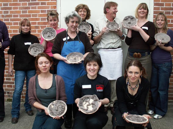 staff training and creative development led by ceramic artist jon williams