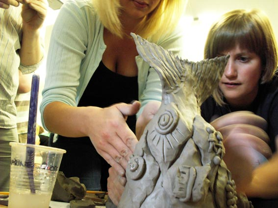 creative development workshop sessions led by artist jon williams from eastnor pottery & the flying potter
