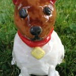 Pottery dog made by a customer at Eastnor Pottery Herefordshire