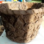 family pottery workshop at bosbury primary school led by eastnor pottery & the flying potter