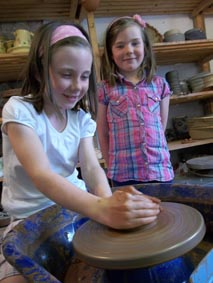 children's summer holiday pottery workshop at Eastnor Pottery, Herefordshire