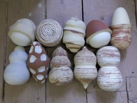 Shake, rattle & roll pots by Studio Potter Jon Williams from Eastnor Pottery & The Flying Potter, Herefordshire