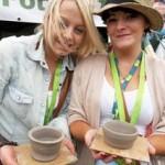pottery workshops at bigchill festival 2011 led by Eastnor Pottery & The Flying Potter