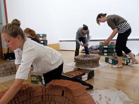 jon williams sensational clay exhibition set-up at bilston craft museum, wolverhampton