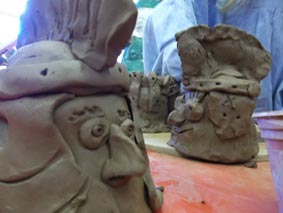 pottery workshops at bishops cleeve primary school