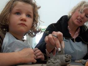 family pottery workshops at sky arts den cheltenham literature festival 2011