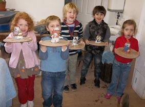 childrens pottery workshop at eastnor pottery herefordshire