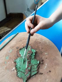 Clay Leaf made at Hesters Way Pottery Workshop, with Jon Williams