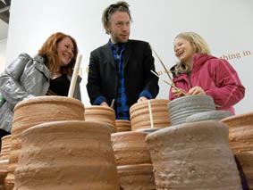 jon williams solo exhibition of interactive ceramics at new brewery arts cirencester