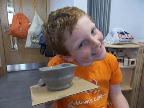 ceramic artist jon williams worked with families at orchard vale childrens centre in evesham