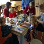 Family creative time at Eastnor Pottery Herefordshire