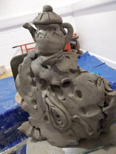 very young children get creative with clay at MAC in birmingham