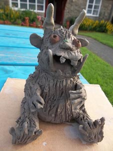 clay gruffalow made by a talented member of staff at brearley & teviot nursery school birmingham