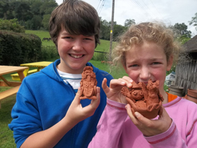 collection weekend for childrens workshops held at eastnor pottery herefordshire