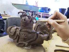 teachers creative development day at eastnor pottery herefordshire