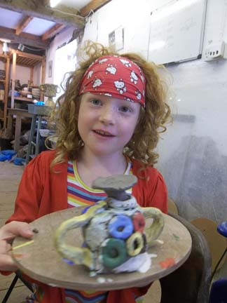 olympic gold children's pottery workshop at eastnor pottery and the flying potter west midlands