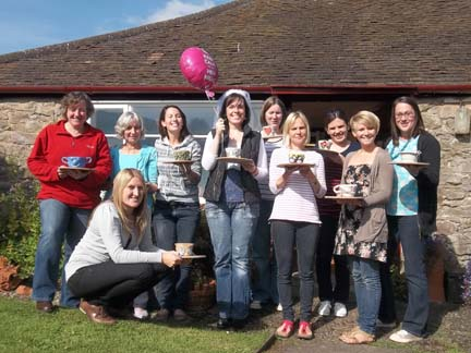 sophies pottery hen party at eastnor pottery near ledbury herefordshire