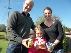 colourful pottery creations made by visitors at eastnor pottery herefordshire