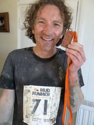 eastnor potter jon williams having just completed the 7 mile mudrunner race in eastnor herefordshire