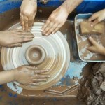 bird bath themed pottery sessions for children in 1/2 term at eastnor pottery herefordshire