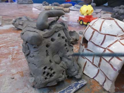 clay houses and pottery homes at washwood heath nursery school