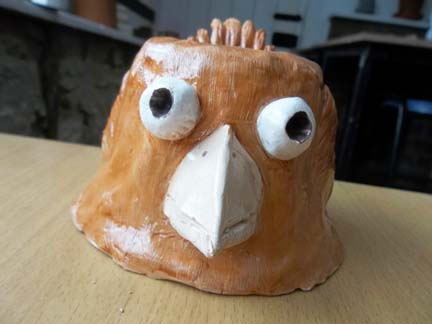a beautifully modelled hen party pottery piece made by a recent hen party group at eastnor