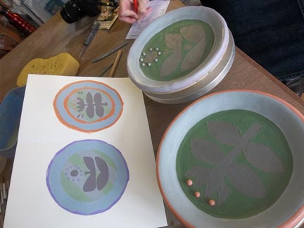 kirstie allsop inspires couple to make pottery plates in the west midlands