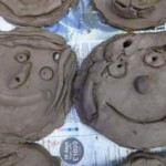 terracotta clay mum medals made by first school in worcestershire