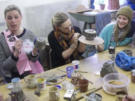 pottery hen party at eastnor pottery nr malvern