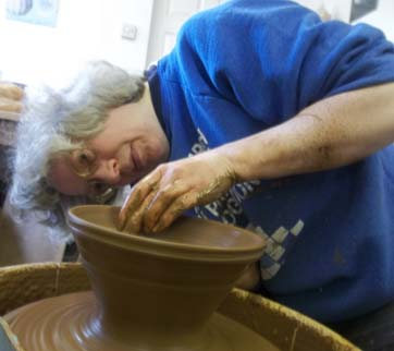 pottery wheel workshops at eastnor pottery herefordshire