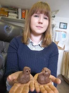 work experience student at eastnor pottery