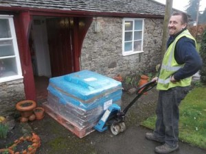 clay delivered from valentines clay products to eastnor pottery herefordshire
