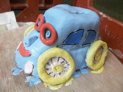 vw beetle produced by a parent at hatherton childrens centre in walsall west midlands
