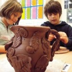 pottery lessons for children at eastnor pottery herefordshire