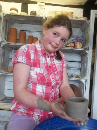 Creative youngster Eliza has always wanted to have a go on the potter's wheel