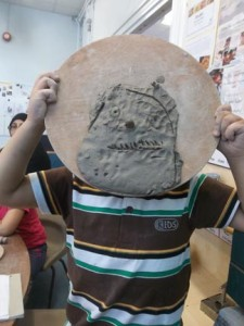 clay self portrait made by nursery school aged child at washwood heath nursery school in birmingham