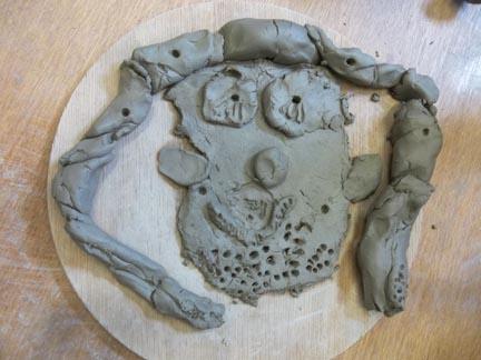 self portrait made by a 4 year old child at washwood heath nursery school birmingham